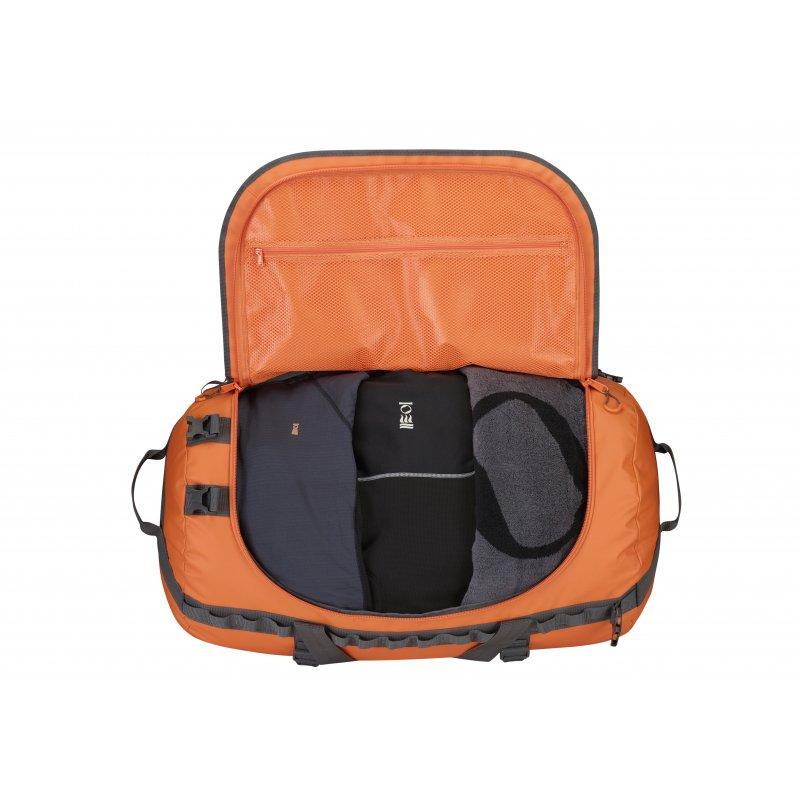 fourth element reisetasche orange 60 liter 89 90. Black Bedroom Furniture Sets. Home Design Ideas