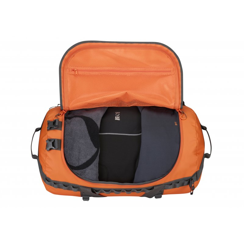 fourth element reisetasche orange 120 liter 114 90. Black Bedroom Furniture Sets. Home Design Ideas